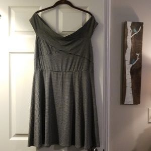 NWT Fit and Flare off the Shoulder Dress